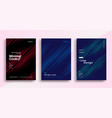minimal dynamic covers design with color line vector image vector image