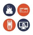 Money icons design vector image