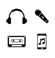 music sound audio simple related icons vector image vector image