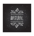 Natural product label on chalkboard vector image vector image