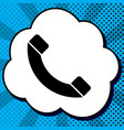 phone sign black icon in vector image vector image