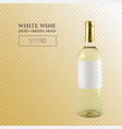 photorealistic bottle white wine on a vector image vector image