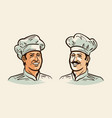 portrait of cheerful chef cook for vector image vector image