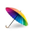 rainbow umbrella vector image