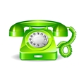 retro green telephone vector image vector image