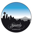 seattle washington skyline with various sights vector image