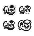 set graduation labels vector image