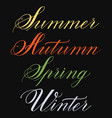 set of hand drawn lettering summer vector image vector image
