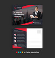simple corporate business postcard template design vector image
