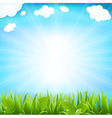 Sky With Beams And Sprout vector image vector image