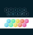 steam banners set science and education vector image