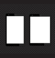 tablets mockups with blank screens vector image vector image