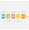 Timeline Infographic with colored pencil ribbon vector image vector image
