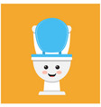 toilet bowl cute face vector image vector image