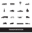transportation icons eps10 vector image vector image