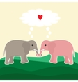 Two elephants in love vector image vector image