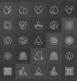 water power icons vector image