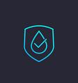 waterproof water resistant icon linear vector image vector image