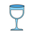 wine glass vector image
