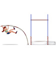 Woman athlete doing high jump vector image vector image