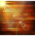 Wooden boards with sun light plus EPS10 vector image vector image