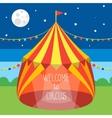 Circus Tent Invitation Card vector image