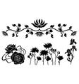 flower decorative elements vector image