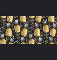 pineapple luxury gold vector image