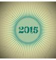 2015 retro sun green vector image vector image
