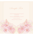 abstract floral invitation card vector image vector image