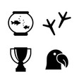 animal exhibition simple related icons vector image vector image