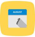 august 1st date on a single day calendar