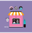 bakery coffee shop place to buy delicious desserts vector image