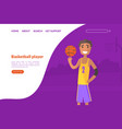 basketball school academy sport club landing vector image