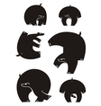 bear silhouettes vector image
