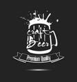 beer craft logo template design vector image vector image