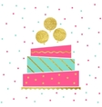 Birthday Cake Card vector image