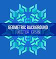 blue green symmetric abstract geometric mandala vector image vector image