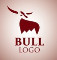 bull logo 1 vector image vector image