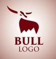 bull logo 1 vector image