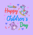 childrens day with toy style collection vector image vector image