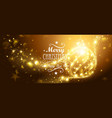 Christmas Gold Ball vector image vector image