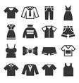 clothing icons set on white background vector image vector image