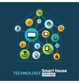 Concept technology- smart house vector image