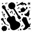 country shadows western music festival illu vector image