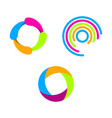 creative circle abstract logo design vector image