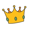 Crown isolated on white background vector image vector image