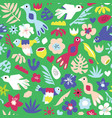 cute birds seamless kids pattern repeating vector image
