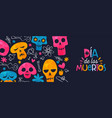 day dead mexican sugar skull spanish banner vector image vector image