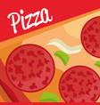 delicious italian pizza ingredients vector image